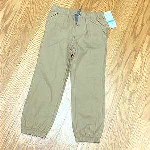 NWT Timberland boys khaki joggers pants